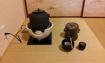 茶道 釜 使い方  電熱