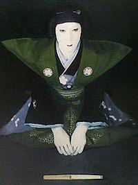 200px-Utaemon_Nakamura_VI_in_Kōjō,_April_1951
